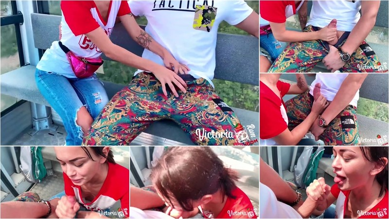 Victoriarom - Babe POV Blowjob and Handjob Dick Outdoor Closeup - Watch XXX Online [FullHD 1080P]