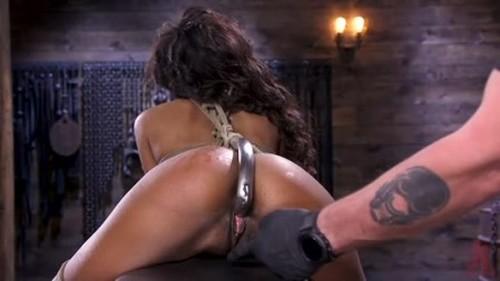 Brand New Ebony Slut Demi Sutra Gets Tied and Tormented - BDSM, Bondage, Bound