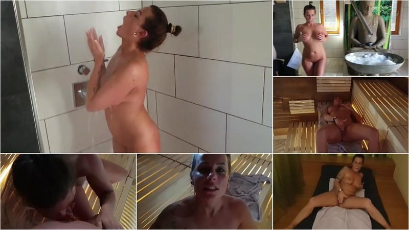 KatyQueen - Geiles Wellness Wochenende - Selbstbefriedigung in der Sauna und schneller Blowjob [HD 720P]