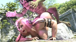 Queen of Swords is Defeated and Gets Raped By Goblins