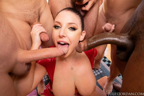 Swarmed By 13 Guys Does Her Biggest Blowbang Ever [HD]