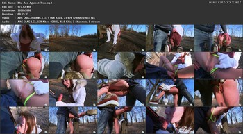 Mia - Cute Brunette Exposes Butt Plug In Park And Gets Fucked In Ass Against a Tree, FHD