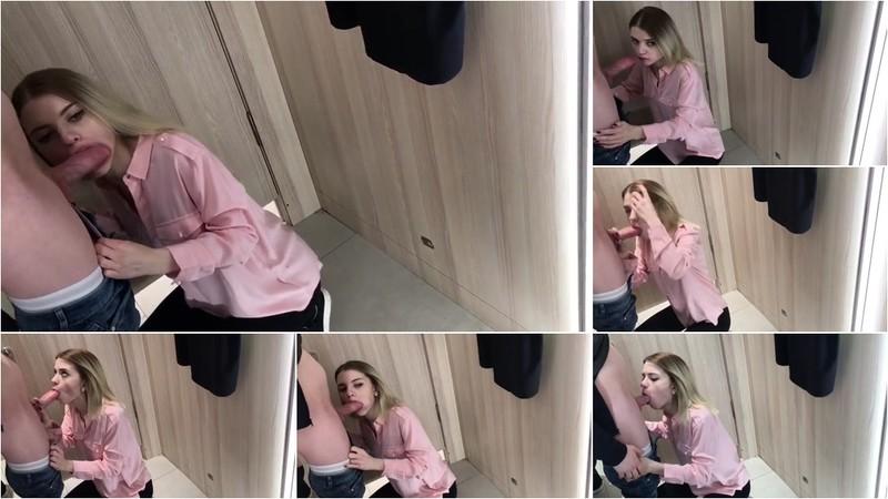Sobestshow, Freya Stein - Schoolgirl Blowjob in Fitting Room [HD 8.21 MB]