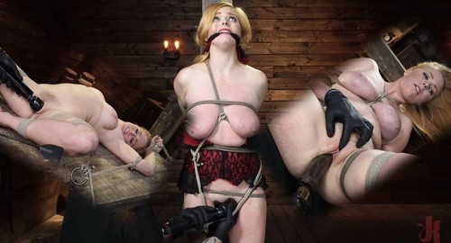 Penny Pax Blue-Eyed Redhead Damsel Tormented In Strict Bondage [SD]