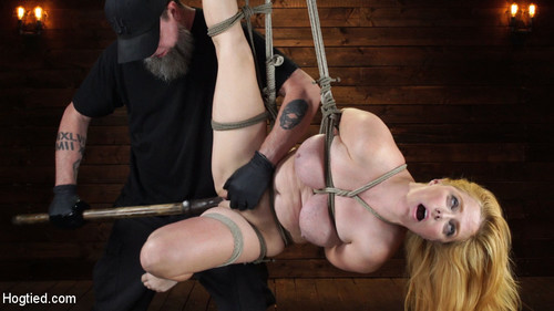 Blue-Eyed Redhead Damsel Tormented In Strict Bondage [HD]