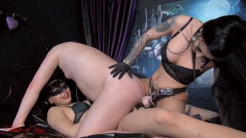 Mistress Gaia, Mistress Kennya - Two dicks in his slutty ass