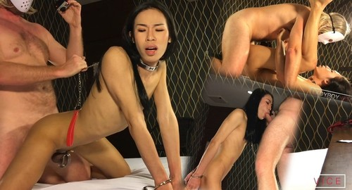 """Junely in """"Cock Cage Sissy"""" [HD]"""