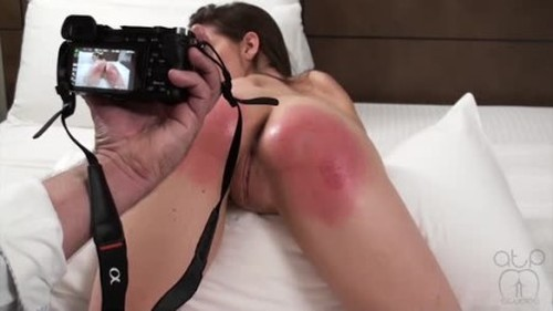 Nude Oil Massage and Well Beaten Bottom - Spanking and Whipping, Punishment