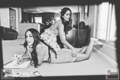 WWE's Bella Twins Hang Out in Their Bras and Panties in Rare Hot Photo Shoot