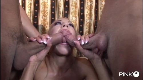 The Blonde And Slutty Wants Two Cocks Just For Her [SD]