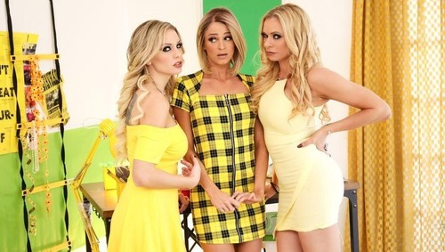 """Briana Banks, Kenzie Taylor, Emma Hix in """"Dinner With The In-Laws"""" [HD]"""