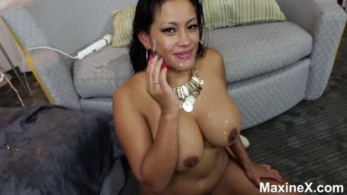 Maxine X BBC Pisses His Cum Off My Face And Tits - Extreme Pissing Video