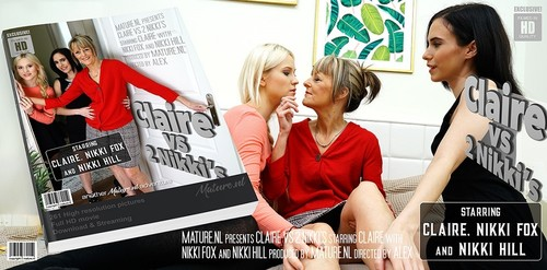 Claire EU 55, Nikki Fox 21, Nikki Hill 19 - This Is One Hot Old And Young Lesbian Threesome
