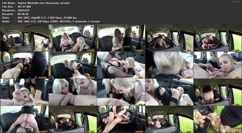 Sophie Anderson, Michelle Thorne - Busty blondes filthy taxi threesome, 576p