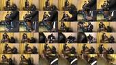 Femdom Leather Boot Shine - Julie Simones
