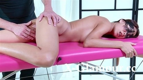 Masked Rogue Fingered On The Massage Table [FullHD]