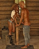 Cosmics3DAngels - Sexy Cowgirl with Happy End Part 2
