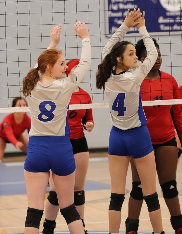 college volleyball teens in tight shorts