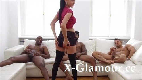 Nicole Love - Violent Interracial Gang-Bang [SD/480p]