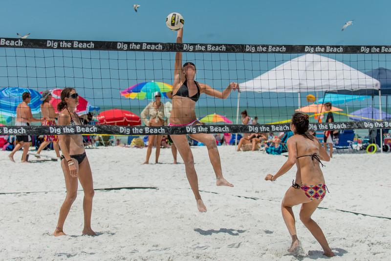 sexy beach volleyball girls in bikinis