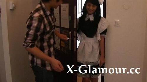 Brunette Maid And Japanese Guy [SD]