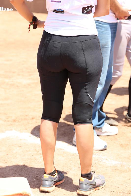 baseball milf in sexy nike leggings