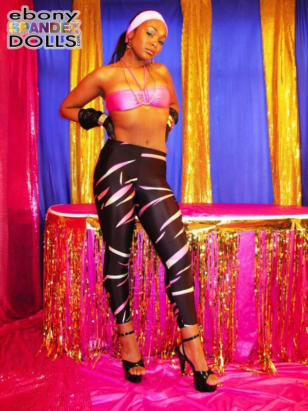 ebony spandex doll Yasmin leggings fetish gallery