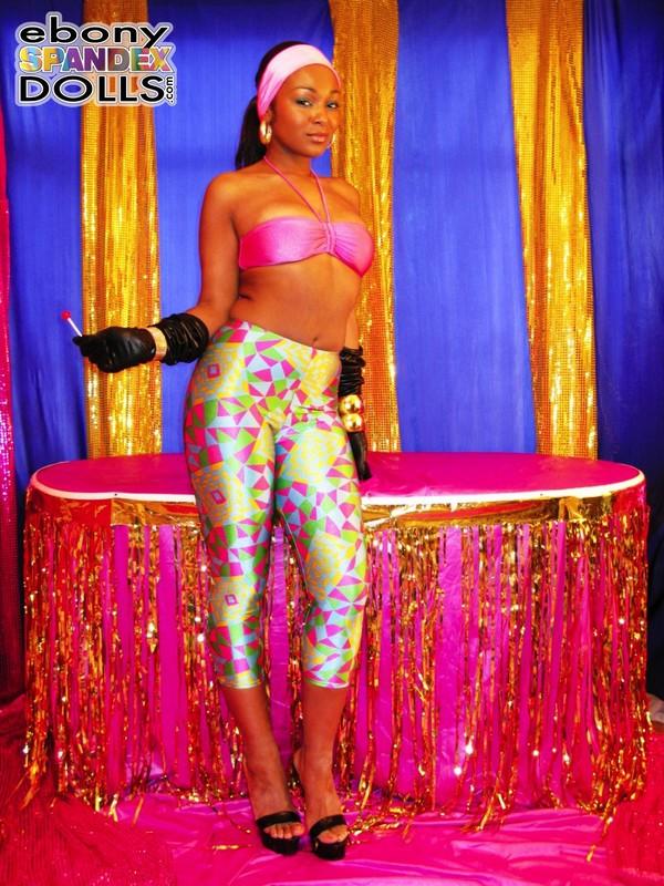 african woman Yasmin in tight lycra pants