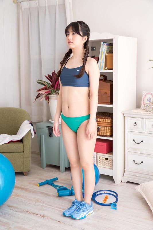 japan babe Nagisa Ikeda in tight workout uniform
