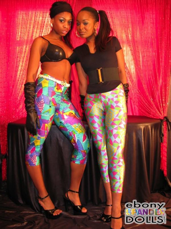 hot african lesbian models in spandex pants
