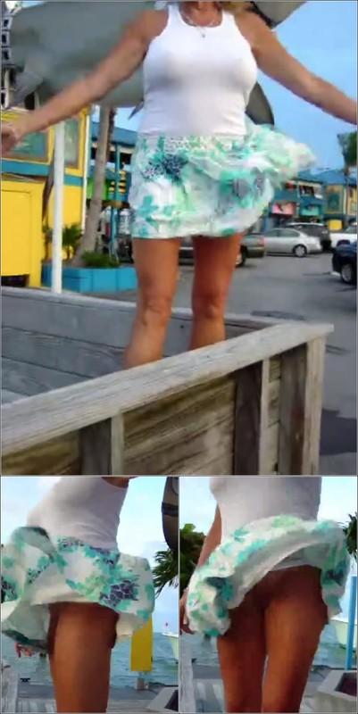 Upskirt No Panties 4191