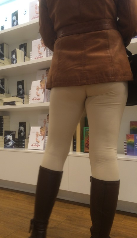 perfect milf legs in tight pants & boots