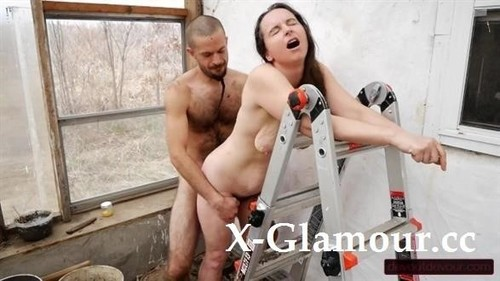 "Devoutdevour in ""Slutty Milf Gets Fucked Against Ladder, Squirts, And Moans Loudly In The Greenhouse"" [HD]"
