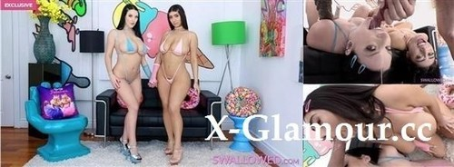 Violet Myers, Angela White - Angela And Violet Gag On A Big One (2021/HD)