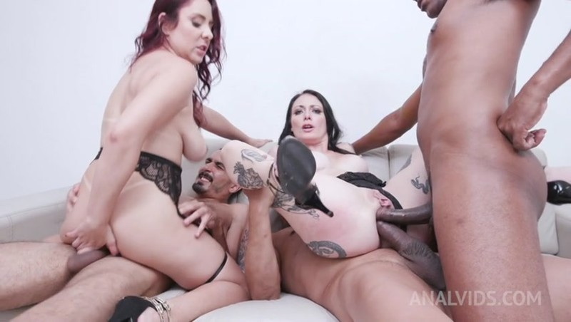 Cris Bathory, Mary Redqueen - fisting each other with prolapse licking and fucking 3on2 with DP and DAP YE104 [SD 480p]