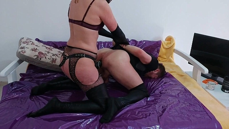 GoddessAndreea - Faith and Dirtywife strapon and turds feeding [FullHD 1080P]