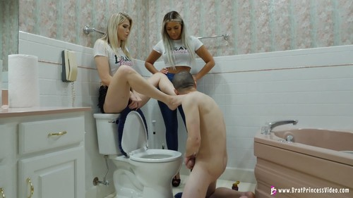 Princess Amber & Ava - Extreme Beta Toilet Humiliation