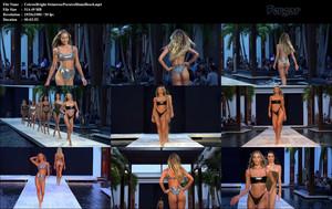 Celeste Bright La Preciosa Modelo Estadounidense Desfilando En La Semana De La Moda De Bikinis En Miami