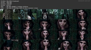 Maru Karv - Wood Witch Blowjob for Halloween! Witch Cosplay for Halloween, 1080p