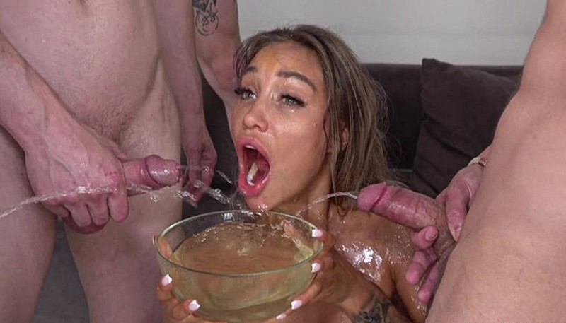 7on1 Double anal Gang Bang goes Wet - Monika Fox [SD 480P]
