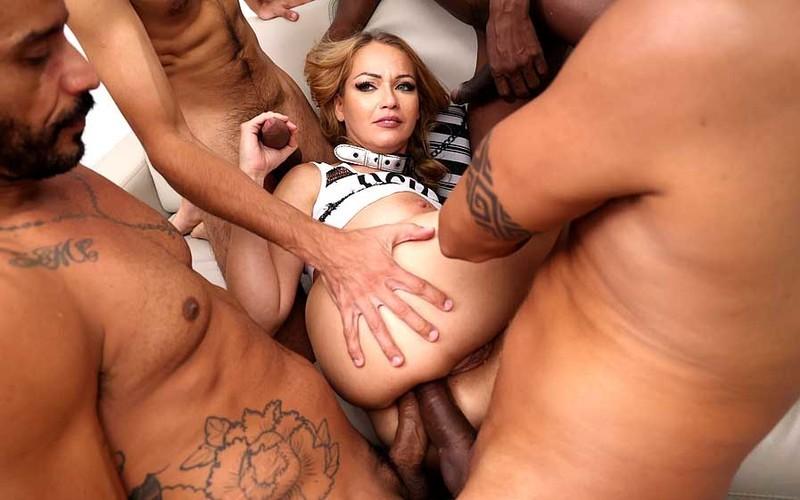 Larissa Leite - Busty slutLarissa Leiteassfucked by 4 huge cocks with DP, DAP and DVP YE114 [HD 720P]