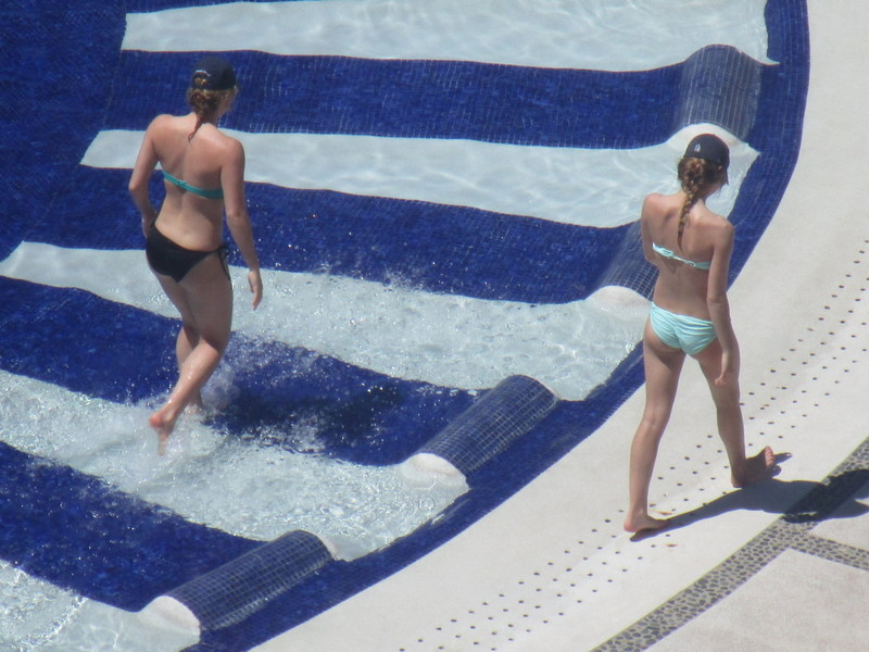 lovely pool girls in sexy bikini