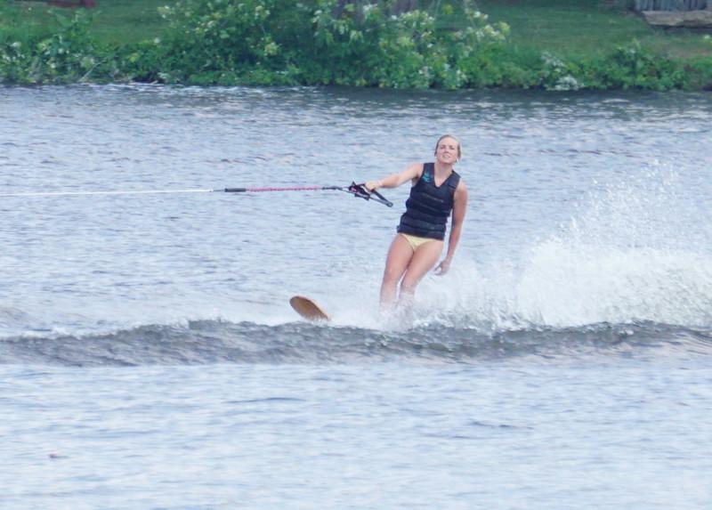 beautiful water ski lady in bikini