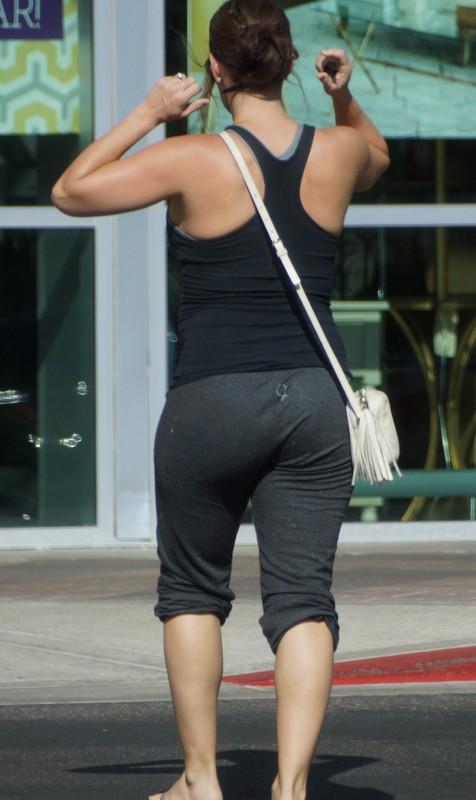 lovely mature lady in dirty yogapants