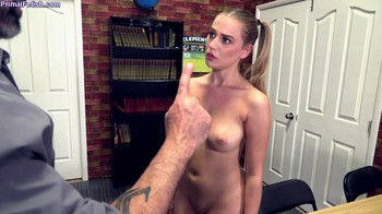 Blonde is serving a school sentence after school and fucks with a school counselor