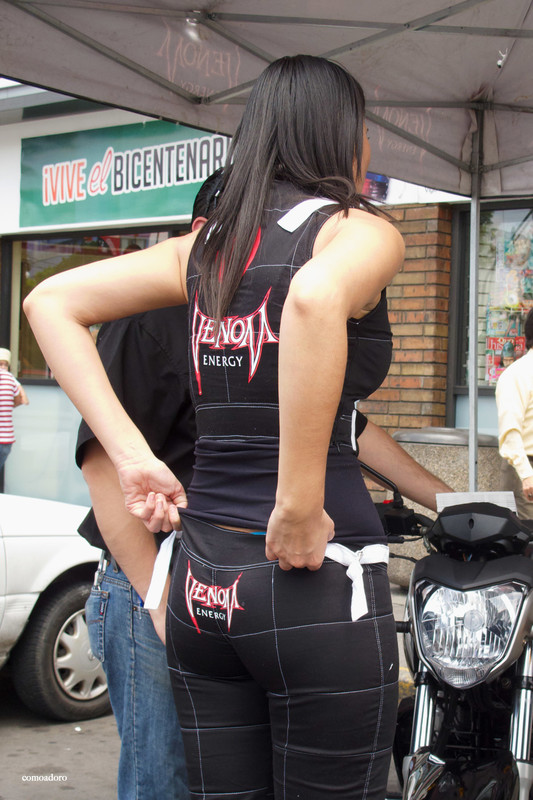 mexican promo babe in tight pants