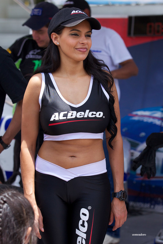 adorable promo girls in candid lycra