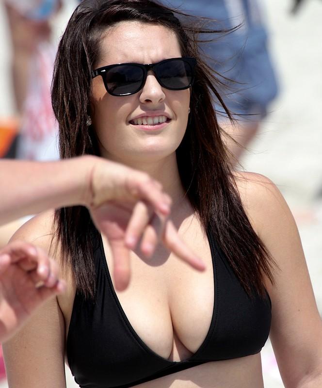 busty college girl in remarkable bikini