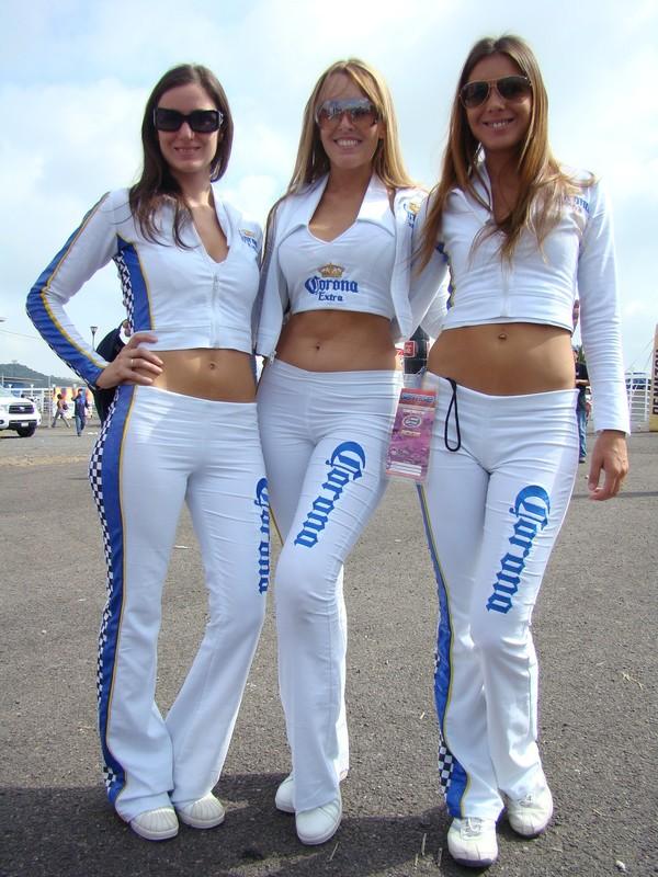 corona beer promo girls in white tight pants