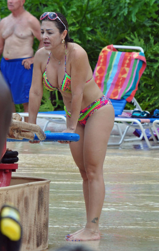 water park milf in wet bikini
